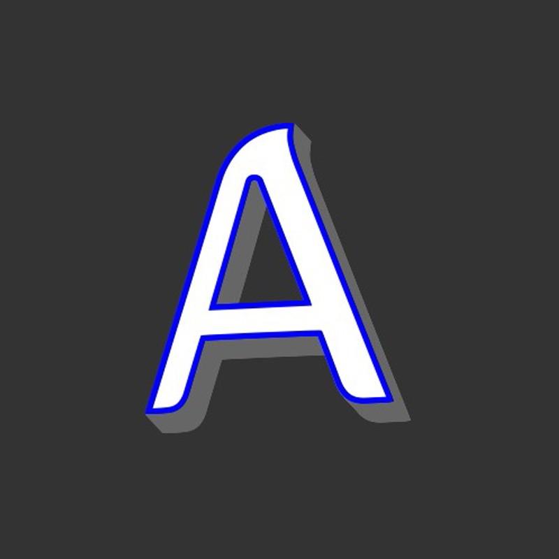 広告フロントライトLEDミニアクリルチャンネルレター