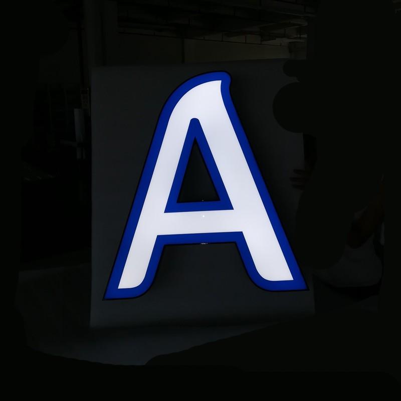 Signe de lettre de canal LED mini lit acrylique acrylique lit