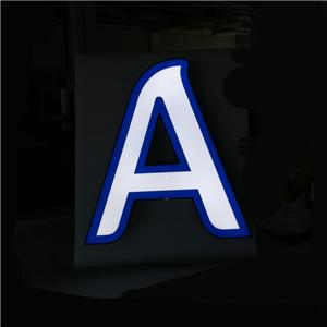 3d Face Lit Acrylic Mini LED Channel Letter Sign