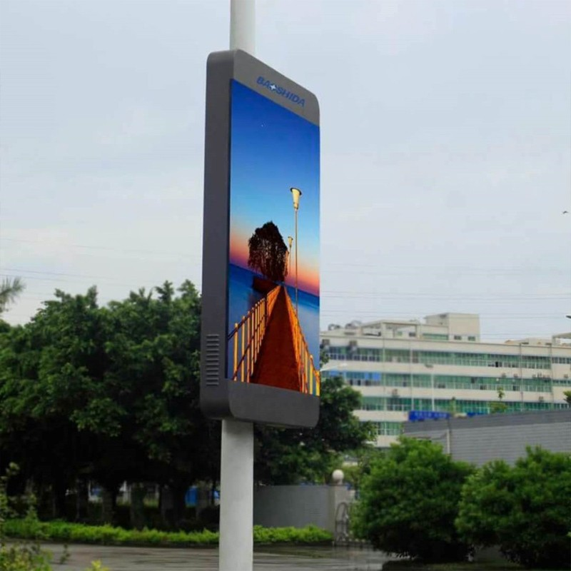 Outdoor Street Advertising LED Lamp Pole Light Box