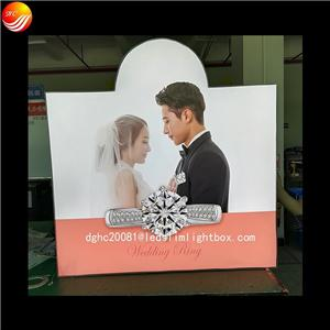 Customized Irregular Shape Fabric Led LightBox