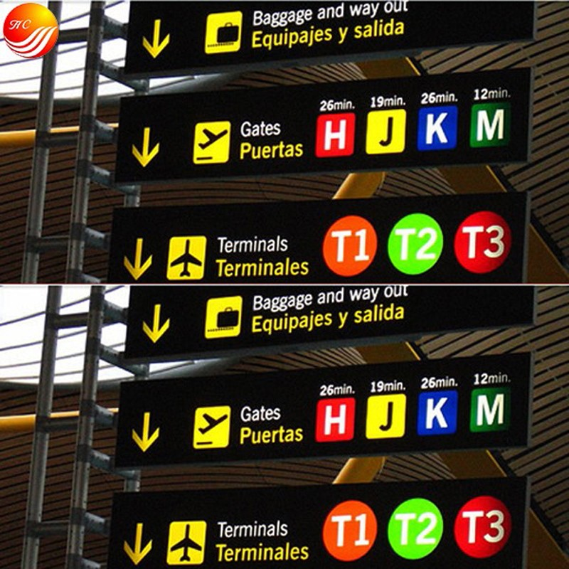 Signage Led Subway Direction Light Box And Guide Signs