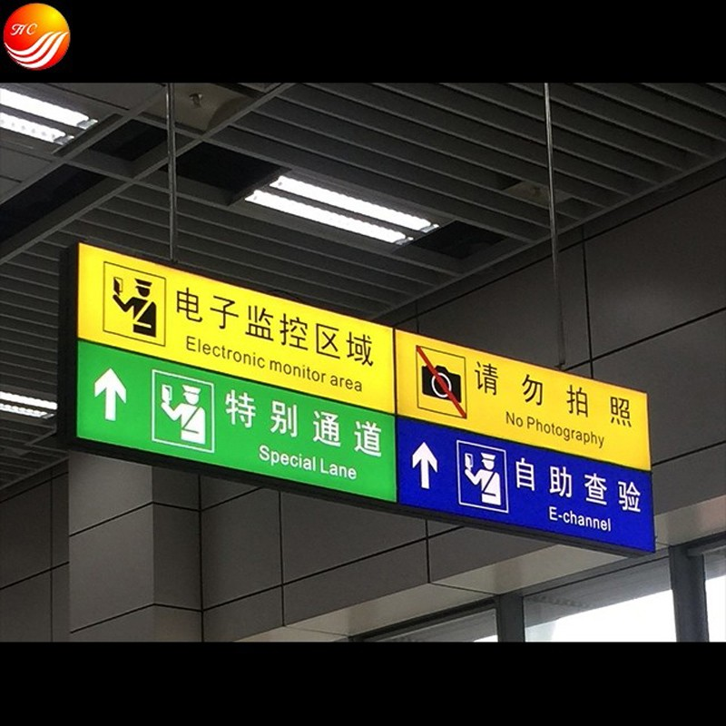 LED Direction Light Box Guide Signs Guided Signage