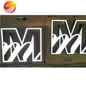Led Stainless Steel Letter Backlit Acrylic Shop Sign