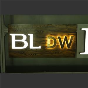 Punching Holes With Exposed Illuminated LED Sign Letter