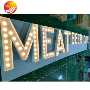 Led Punching Holes And Exposed LED Letter Signs