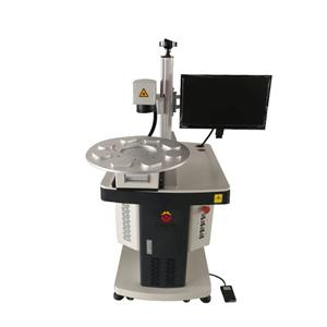 30W Automatic Fiber Laser Marking Machine With Rotary Device CN-FW30-I3