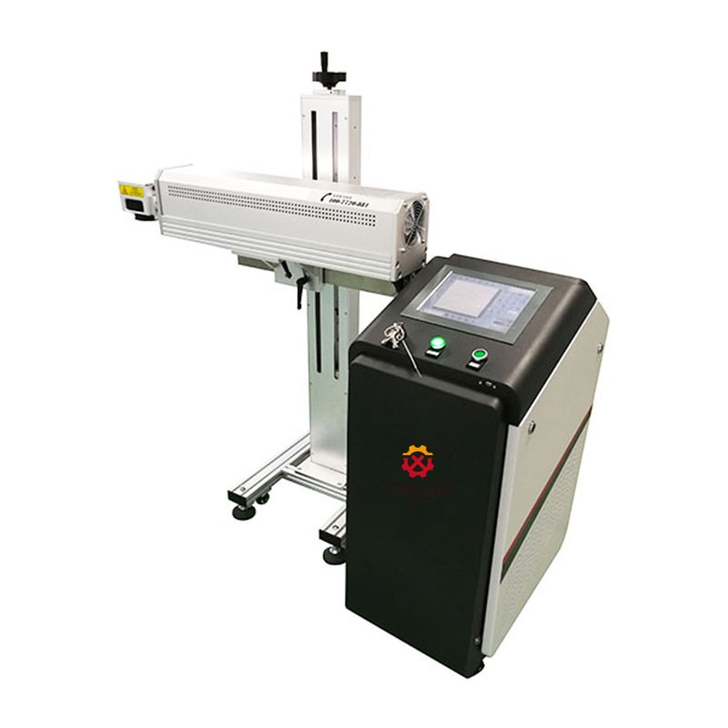 Co2 Laser Marking Machine for Package Bag Marking Bar code With Coherent RF Tube CN-CWF30-B1