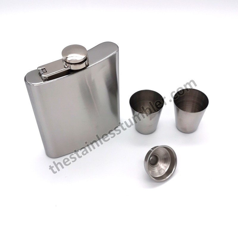 7 Oz Stainless Steel Flask Set Wine Set
