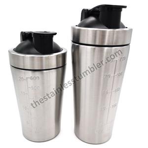 25oz Stainless Steel Top Protein Bottle Shaker Cup With Lid And Black Ball