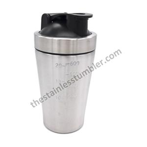 17.5oz Stainelss Steel Vacuum Insulated Mixing Cup Ice Shaker Protein Shaker