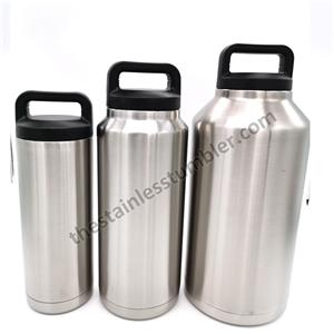 The Stainless Steel Drink Beverage Sports Bottle 64oz