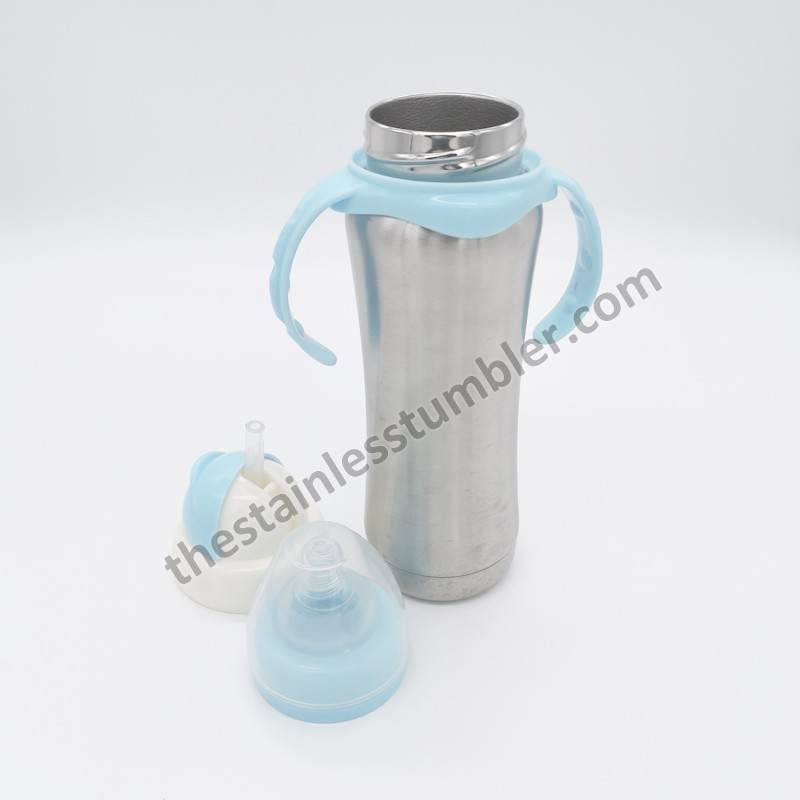 Bedste lyserøde eller blå rustfrit stål 8 oz babyfoder vandflaske pris producenter