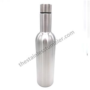 Stainless Steel Double Wall Vacuum Insulated 750ml Wine Bottles