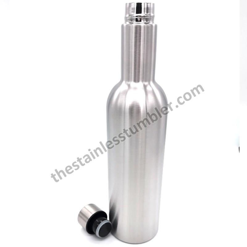 Forsyningssalg Rustfrit stål dobbeltvægs vakuumisoleret 750 ml vinflasker Kampagner