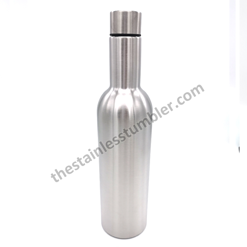 Supply Sales Stainless Steel Double Wall Vacuum Insulated 750ml Wine Bottles Promotions