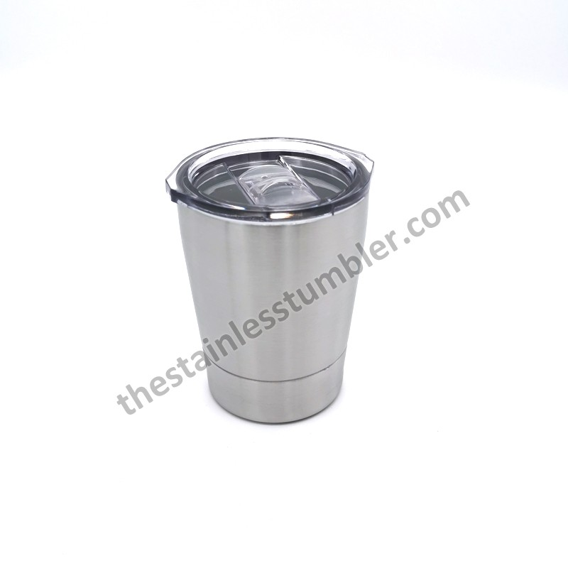 8oz Kid Stainless Steel Tumbler With Sliding Lid And Straw BPA Free