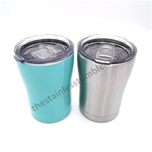 12oz Stainless Steel Insulated Curvy Modern Curve Tumbler With Lid