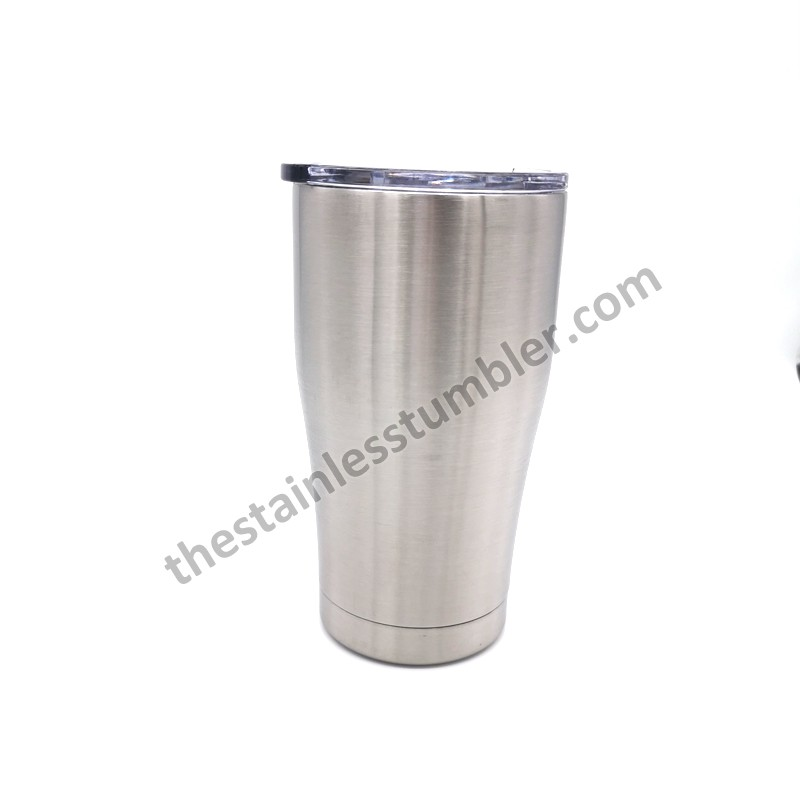 16oz Stainless Steel Curvy Curved Curve Tumbler With Lid