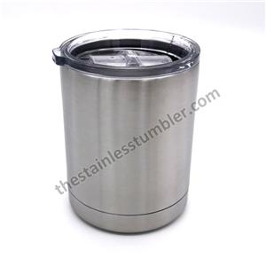 10oz Stainless Steel Rambler Vacuum Tumbler Lowball With Lid
