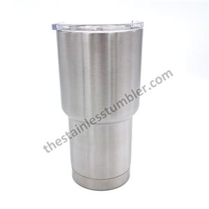 20oz Stainless Steel Curved Tumbler With Lid