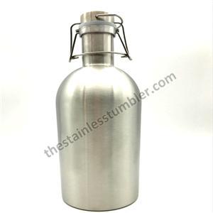 64 oz rustfrit stål dobbeltvægs vakuumisoleret ølvinkler med låg