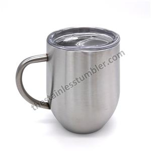 12oz Stainless Steel Egg Shape Coffee Mug Cup For Coffee