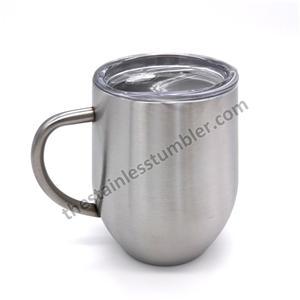 12 oz rustfrit stål ægform kaffe kop kop til kaffe