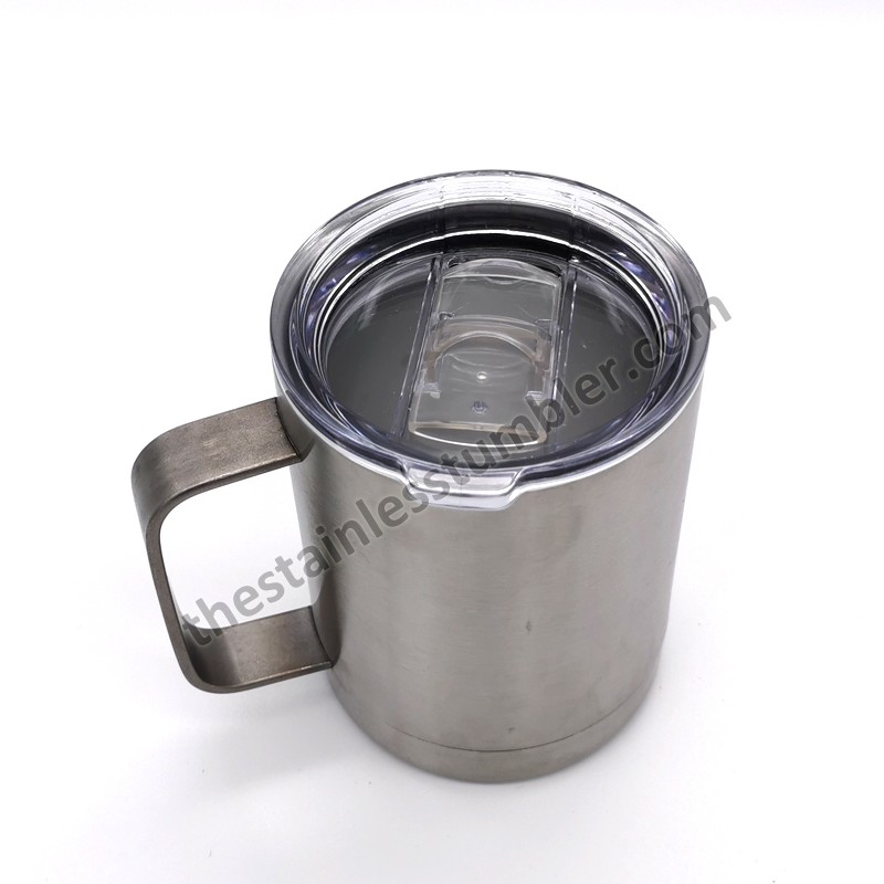 10oz Stainless Steel Double Wall Coffee Cup Mug With Lid