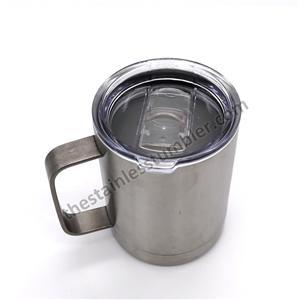 10oz rustfrit stål dobbeltvægts kaffekopkrus med låg