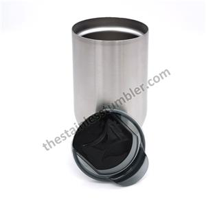16oz Stainless Steel Egg Shaped Wine Cup Wine Glass With Black Lid