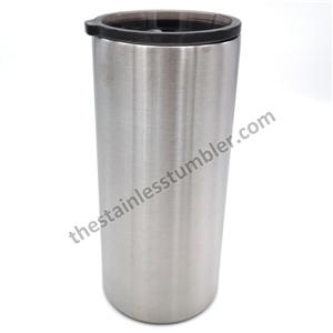 22oz Stainless Steel Double Wall Insualted Straight Fatty Tumbler With Tinted Sliding Lid
