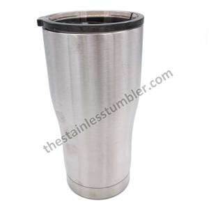 20oz Stainless Steel Modern Curve Waist Shape Tumbler With Tinted Sliding Lid