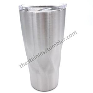 20oz Stainless Steel Twisted Twist Tumbler With Sliding Lid