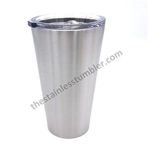 24oz Stainless Steel Straight Tapered Tumbler With Sliding Lid
