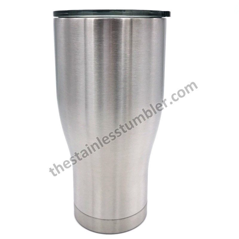 30oz stainless Steel Modern Curve Waist Shape Tumbler With Tinted Sliding Lid