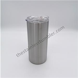 15oz Stainless Steel Skinny Slim Tumbler With Lid