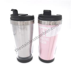 15oz Stainless Steel Double Wall Sotryboard Tumbler With Screw Lid