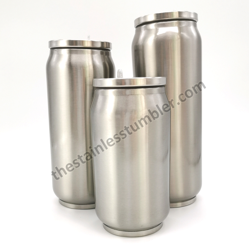 stainless steel soda can