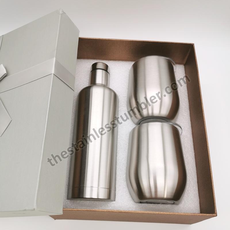 stainless wine bottle set