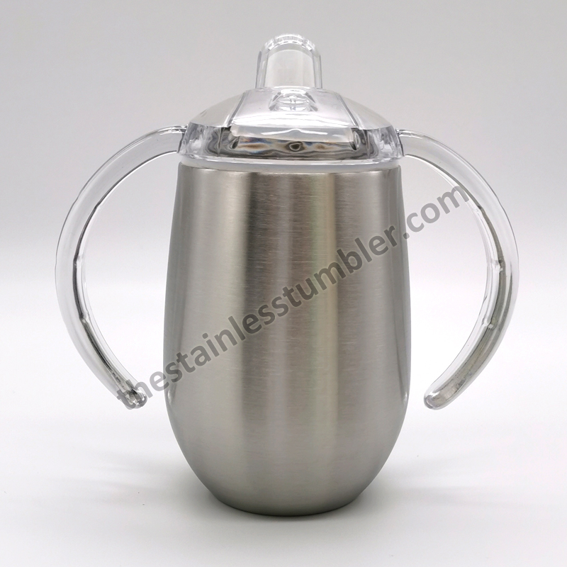 stainles steel 9oz sippy cup