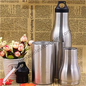 12 oz rustfrit stål dobbeltvæg ølflaskeholder øl køler flaske Koozie