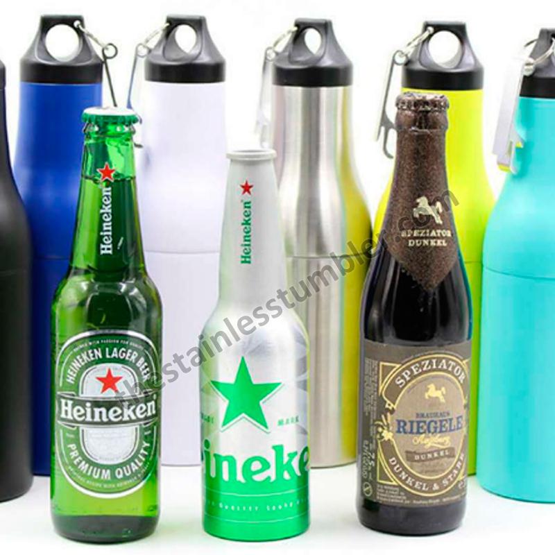 stainless steel beer bottle koozie