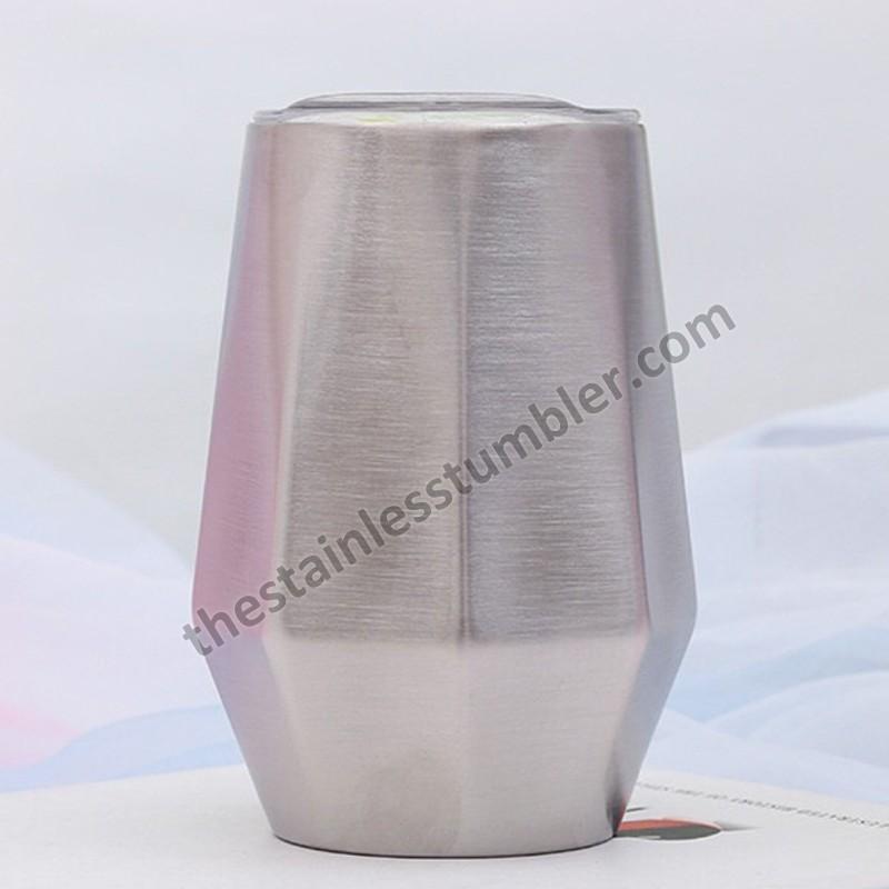 12 oz rustfrit stål vakuumisoleret diamantform vin kop vin glas