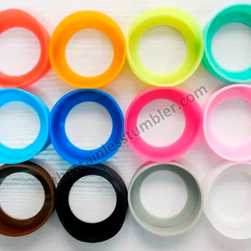 Colorful Colored Silicone Bumpers For Cup Bottle Tumbler 60mm 65mm 70mm