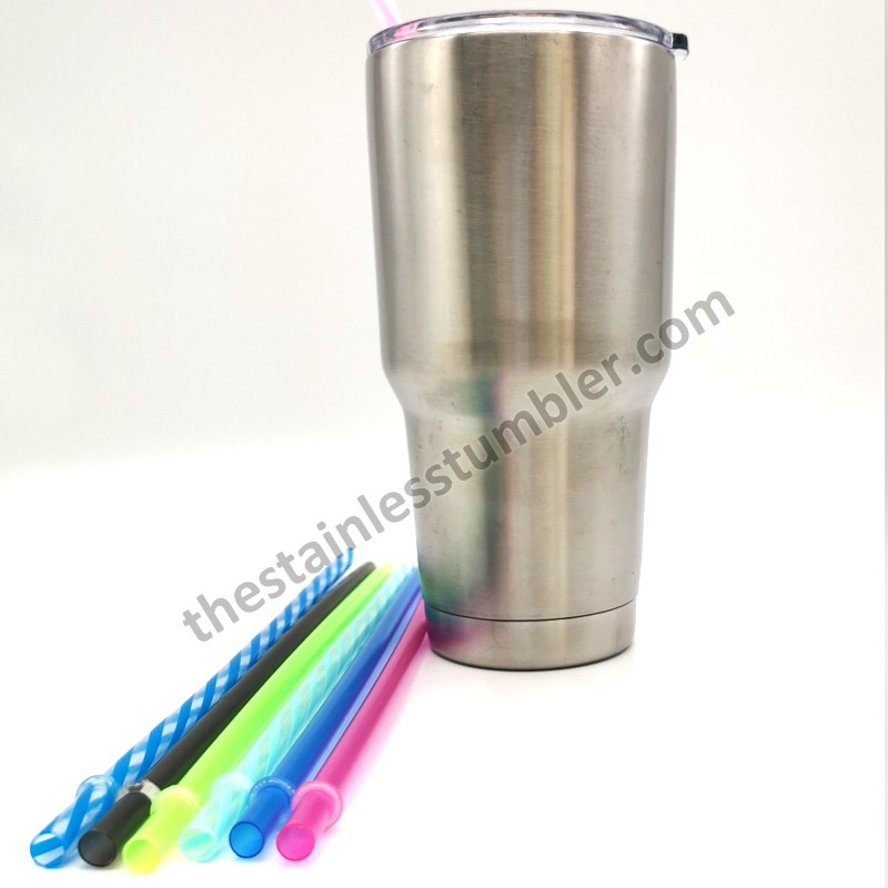 Reusable Rainbow Clear Plastic Drinking Straws For Tumblers Cups 10.5inch 11inch 12inch