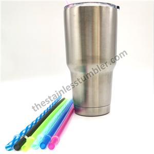 Genanvendelige regnbue klar plast drikstrå til tumblere kopper 10,5 tommer 11 tommer 12 tommer