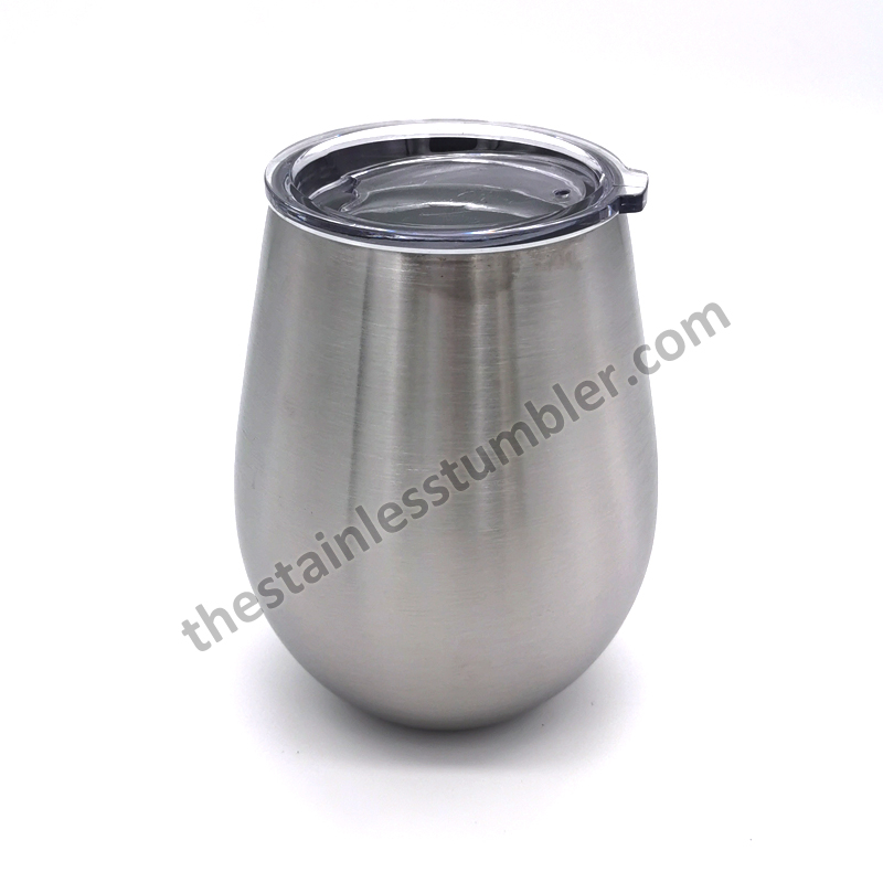 stainless steel 10oz egg shape cup