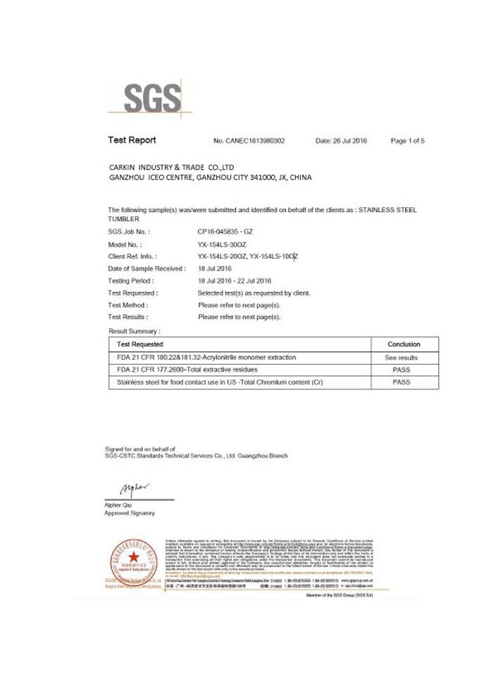 SGS-certificering
