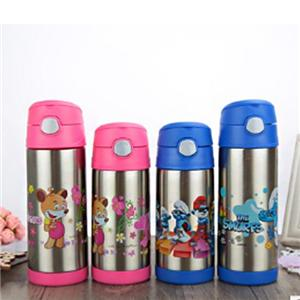9oz 12oz Colored Stainless Steel Baby Kid Water Bottle With Flip Top Lid